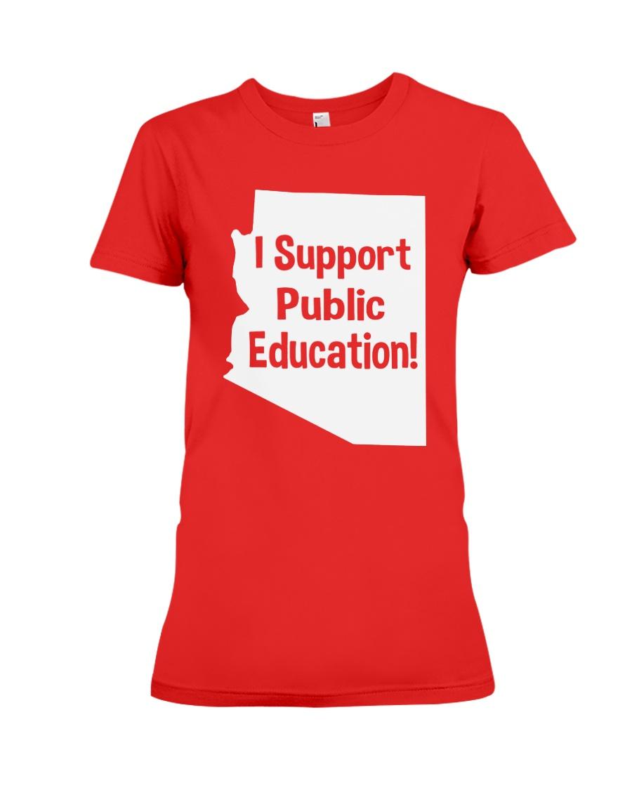 I Support Public Education T-Shirt Premium Fit Ladies Tee