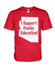 I Support Public Education T-Shirt V-Neck T-Shirt thumbnail