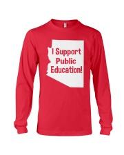 I Support Public Education T-Shirt Long Sleeve Tee thumbnail