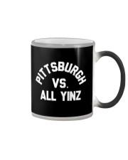 Pittsburgh Vs All Yinz Tee Shirt Color Changing Mug thumbnail