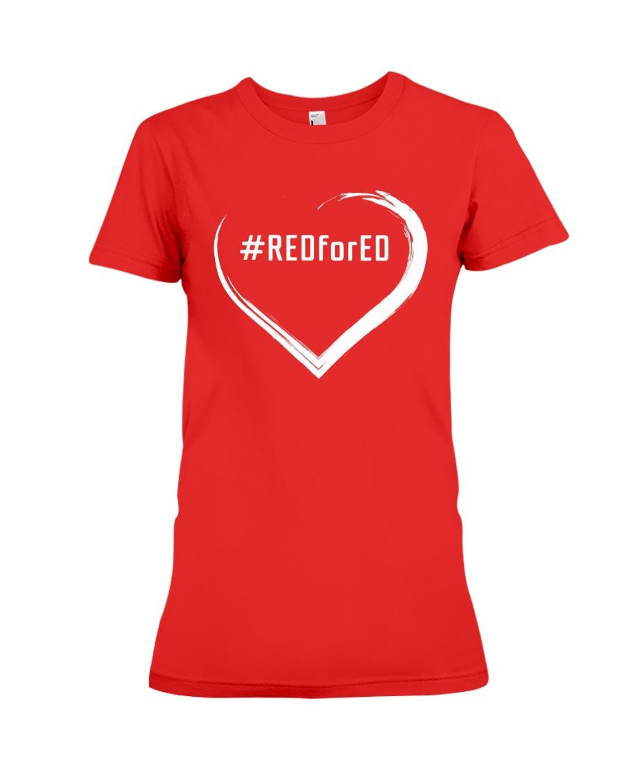 Hashtag RedForEd Shirt Premium Fit Ladies Tee