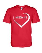 Hashtag RedForEd Shirt V-Neck T-Shirt thumbnail