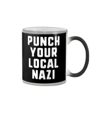 Punch Your Local Nazi T-Shirt Color Changing Mug tile