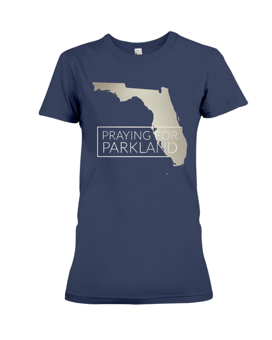 Pray for Parkland Tee Shirt Premium Fit Ladies Tee