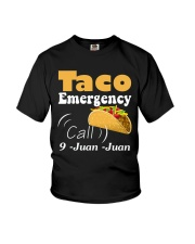 Taco Emergency Call 9 Juan Juan Tee Youth T-Shirt thumbnail