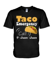 Taco Emergency Call 9 Juan Juan Tee V-Neck T-Shirt tile