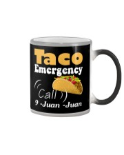 Taco Emergency Call 9 Juan Juan Tee Color Changing Mug tile