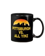 Pittsburgh Vs All Yinz Tshirt Pittsburgh Sports  Mug thumbnail