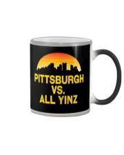 Pittsburgh Vs All Yinz Tshirt Pittsburgh Sports  Color Changing Mug thumbnail