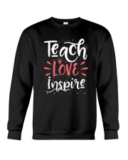 Teach Love Inspire Teacher Teaching T-Shirt Crewneck Sweatshirt thumbnail