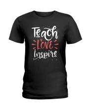 Teach Love Inspire Teacher Teaching T-Shirt Ladies T-Shirt thumbnail