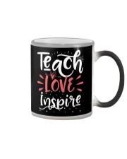 Teach Love Inspire Teacher Teaching T-Shirt Color Changing Mug thumbnail