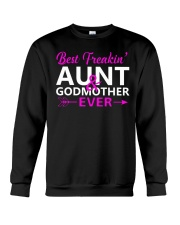 Freakin Aunt And Godmother Shirt Crewneck Sweatshirt thumbnail