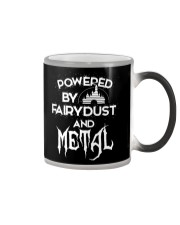 By Fairy Dust And Metal Tee Shirt Color Changing Mug thumbnail