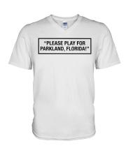 Please Play For Parkland Florida T-Shirt V-Neck T-Shirt thumbnail