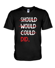 Should Would Could Did T-Shirt V-Neck T-Shirt thumbnail