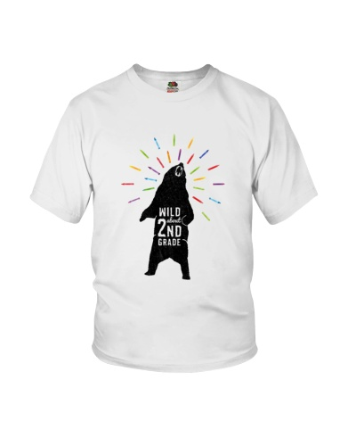Wild About Second Grade Funny Tee Shirt
