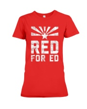 Red for Ed Shirt Premium Fit Ladies Tee front