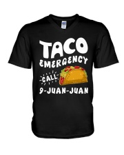 Taco Emergency Call 9 Juan Juan T-Shirt V-Neck T-Shirt tile