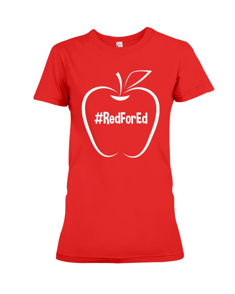 Hashtag RedForEd T-Shirt Premium Fit Ladies Tee