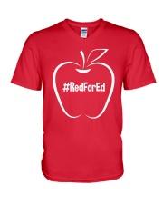 Hashtag RedForEd T-Shirt V-Neck T-Shirt thumbnail