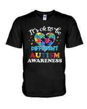 It's OK To Be Different Autism T-Shirt V-Neck T-Shirt thumbnail