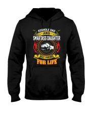 Asshole Dad And Smartass Daughter Shirt Hooded Sweatshirt thumbnail