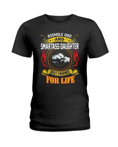 Asshole Dad And Smartass Daughter Shirt
