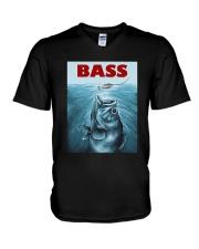 Bass Fishing T-Shirt V-Neck T-Shirt thumbnail