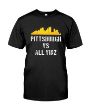 Pittsburgh Vs All Yinz Limited Edition T-Shirt Classic T-Shirt front