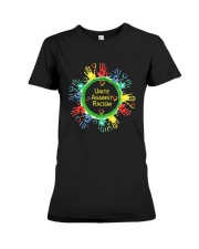 Anti Racism T Shirt Unite Against Racism Premium Fit Ladies Tee thumbnail