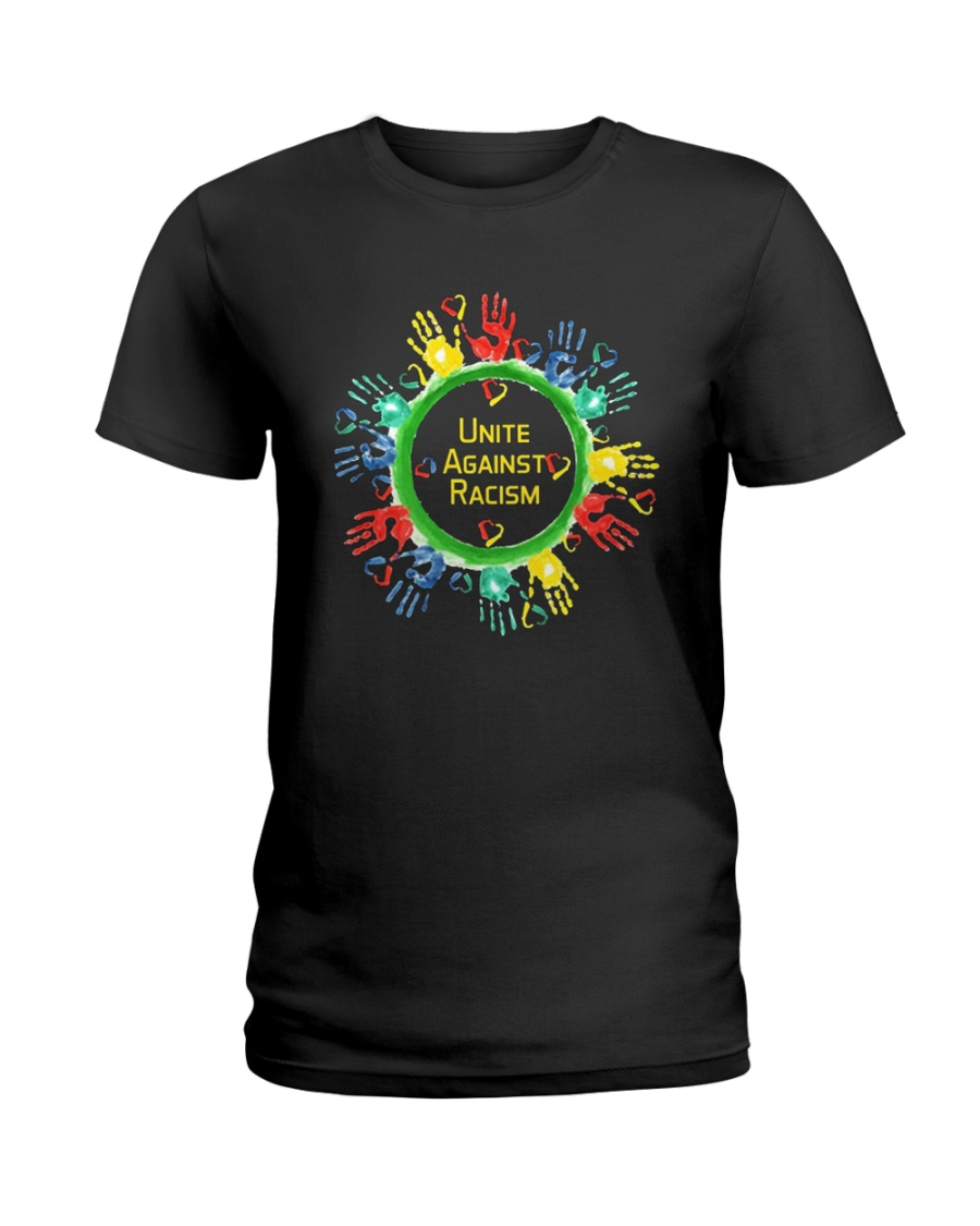 Anti Racism T Shirt Unite Against Racism Ladies T-Shirt