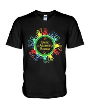 Anti Racism T Shirt Unite Against Racism V-Neck T-Shirt thumbnail