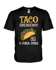 Emergency Call 9 Juan Juan Classic Shirt V-Neck T-Shirt front