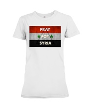 Pray For Syria Shirt Premium Fit Ladies Tee thumbnail