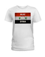 Pray For Syria Shirt Ladies T-Shirt front