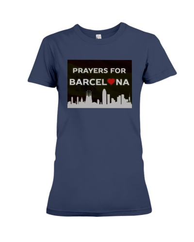 Poster Pray for Barcelona Tee Shirt