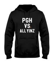 Pittsburgh Vs All Yinz Tee Shirt Hooded Sweatshirt thumbnail
