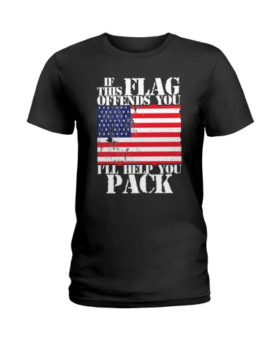 If This American Flag Offends You Shirt