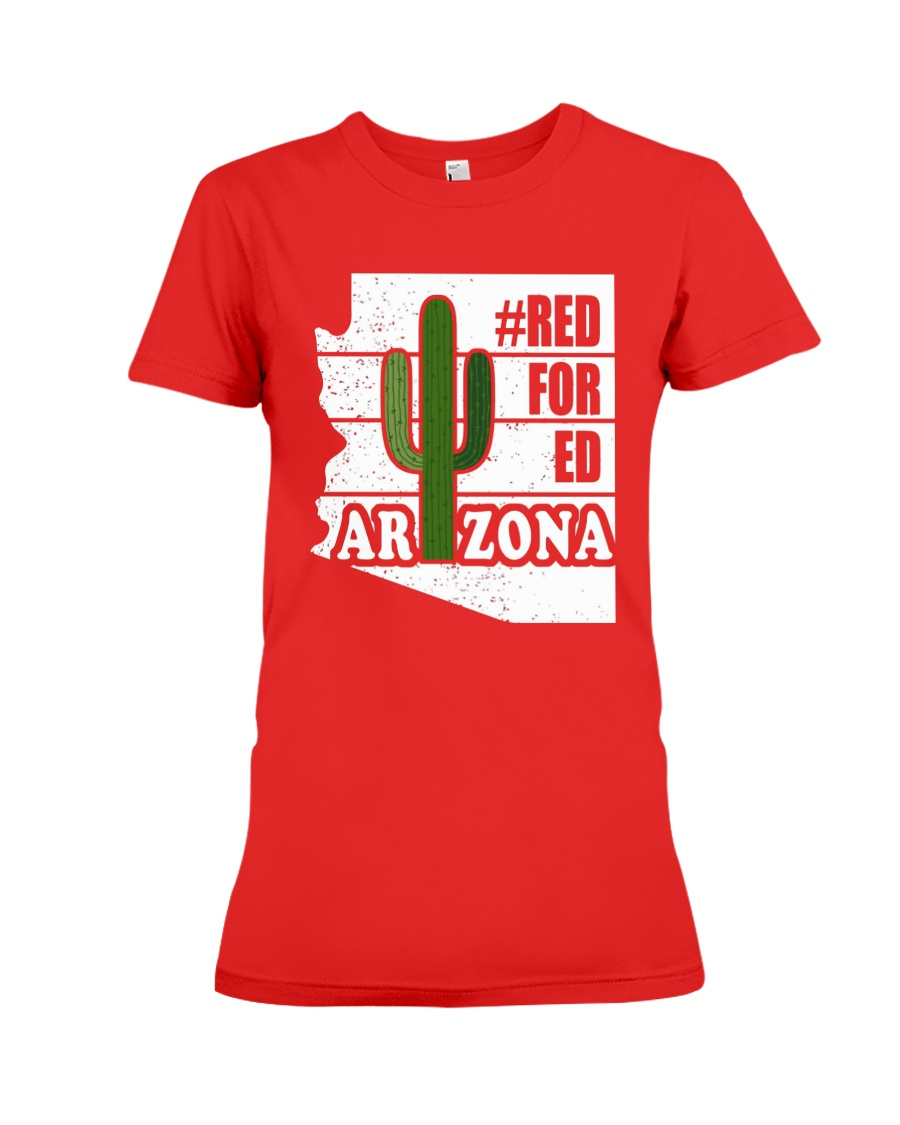 Redfored Arizona Teachers United Shirt Premium Fit Ladies Tee