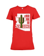 Redfored Arizona Teachers United Shirt Premium Fit Ladies Tee front