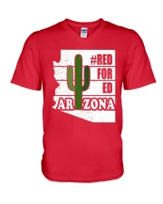 Redfored Arizona Teachers United Shirt V-Neck T-Shirt thumbnail
