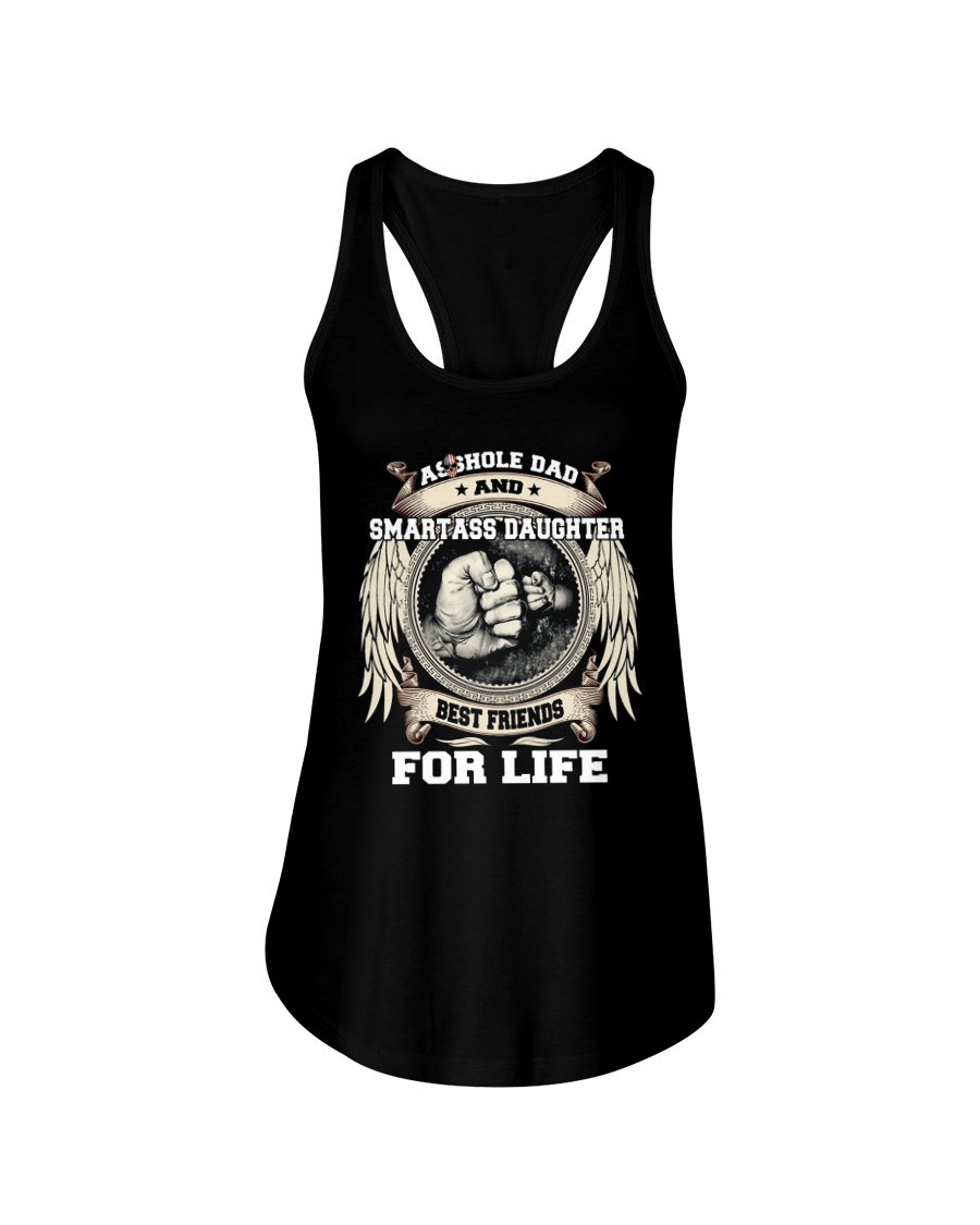 Asshole Dad Best Friend Shirt Ladies Flowy Tank