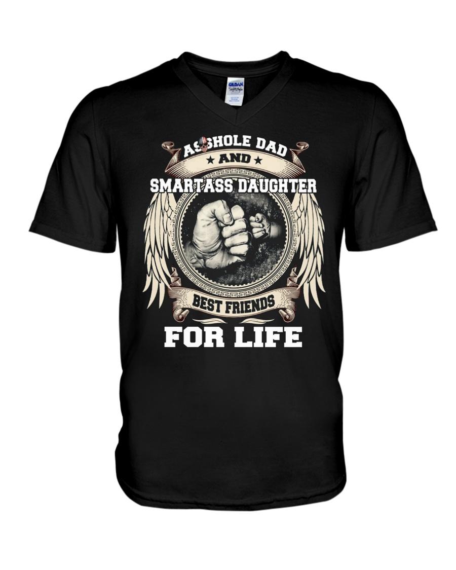 Asshole Dad Best Friend Shirt V-Neck T-Shirt
