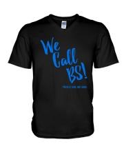 We Call BS Protect Kids Not Guns T-Shirt V-Neck T-Shirt thumbnail