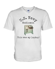 US Navy Radioman T-Shirt V-Neck T-Shirt thumbnail