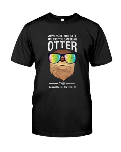Otter With Rainbow Sunglasses T-Shirt