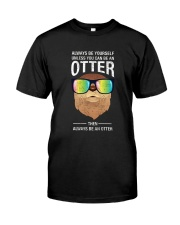 Otter With Rainbow Sunglasses T-Shirt Classic T-Shirt front