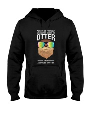 Otter With Rainbow Sunglasses T-Shirt Hooded Sweatshirt thumbnail