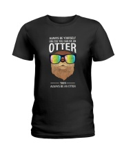 Otter With Rainbow Sunglasses T-Shirt Ladies T-Shirt thumbnail